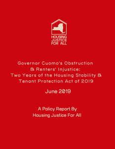 Governor Cuomo's Obstruction & Renters' Injustice